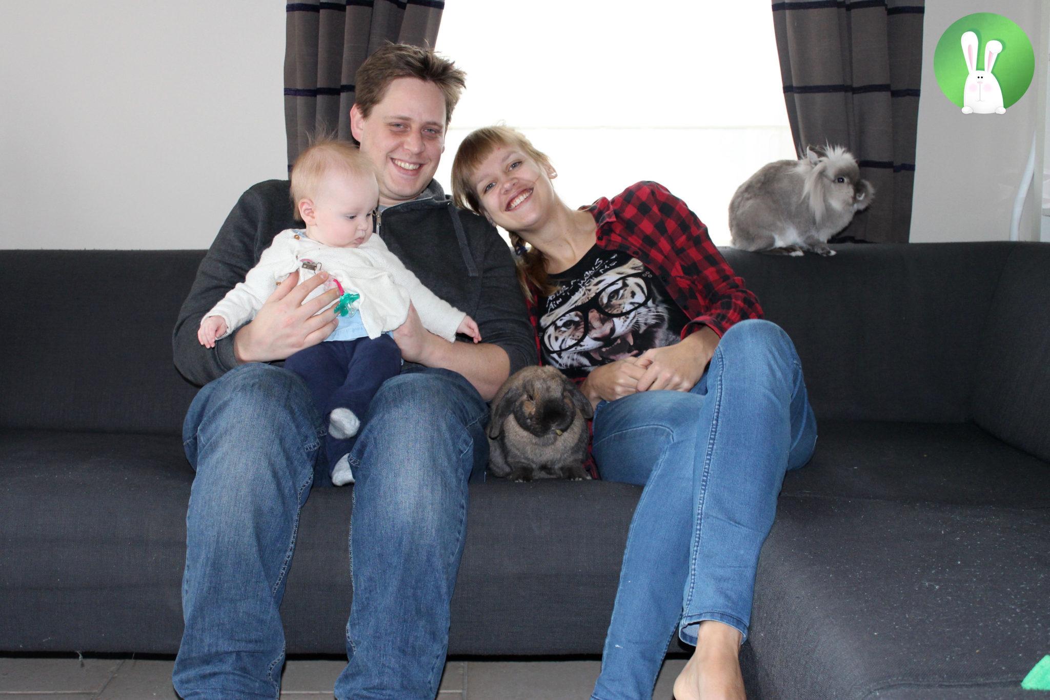Familieportret | Konijnenadviesbureau Hopster