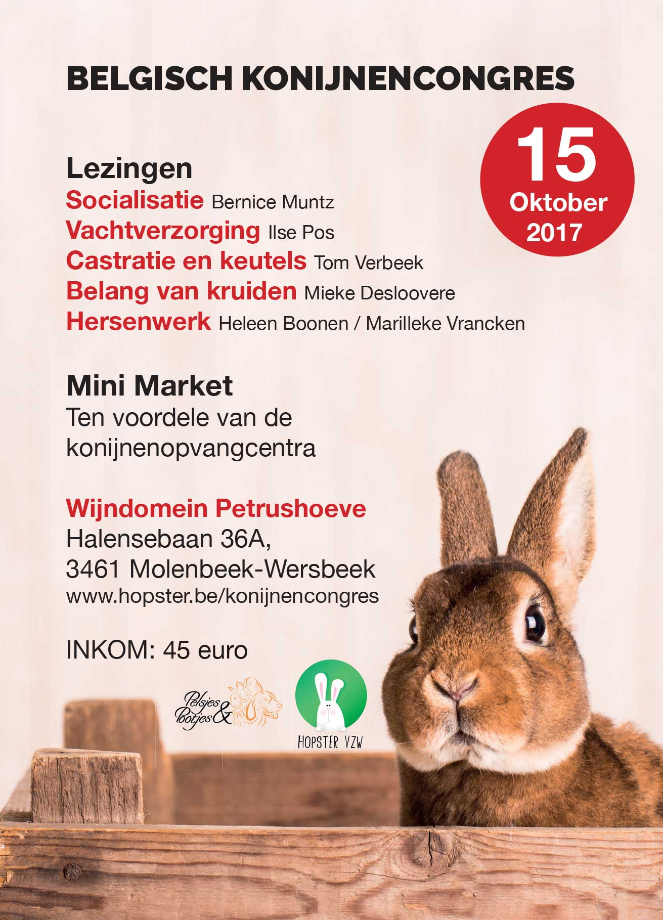 Konijnencongres 2017 | Konijnenadviesbureau Hopster