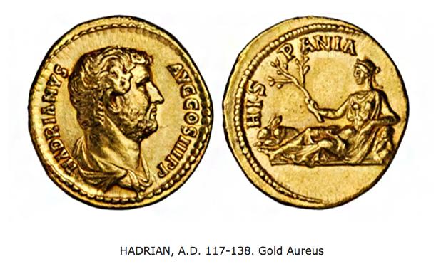 HADRIAN, A.D. 117-138. Gold Aureus | Hopster vzw