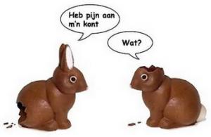 Chocolade konijnen voor Pasen | Konijnenadviesbureau Hopster
