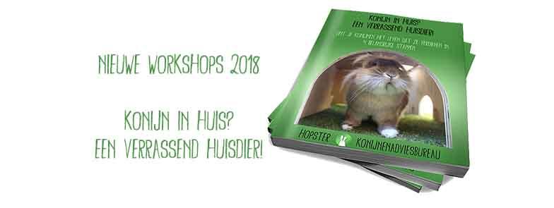 Nieuwe workshops 2018 | Konijnenadviesbureau Hopster