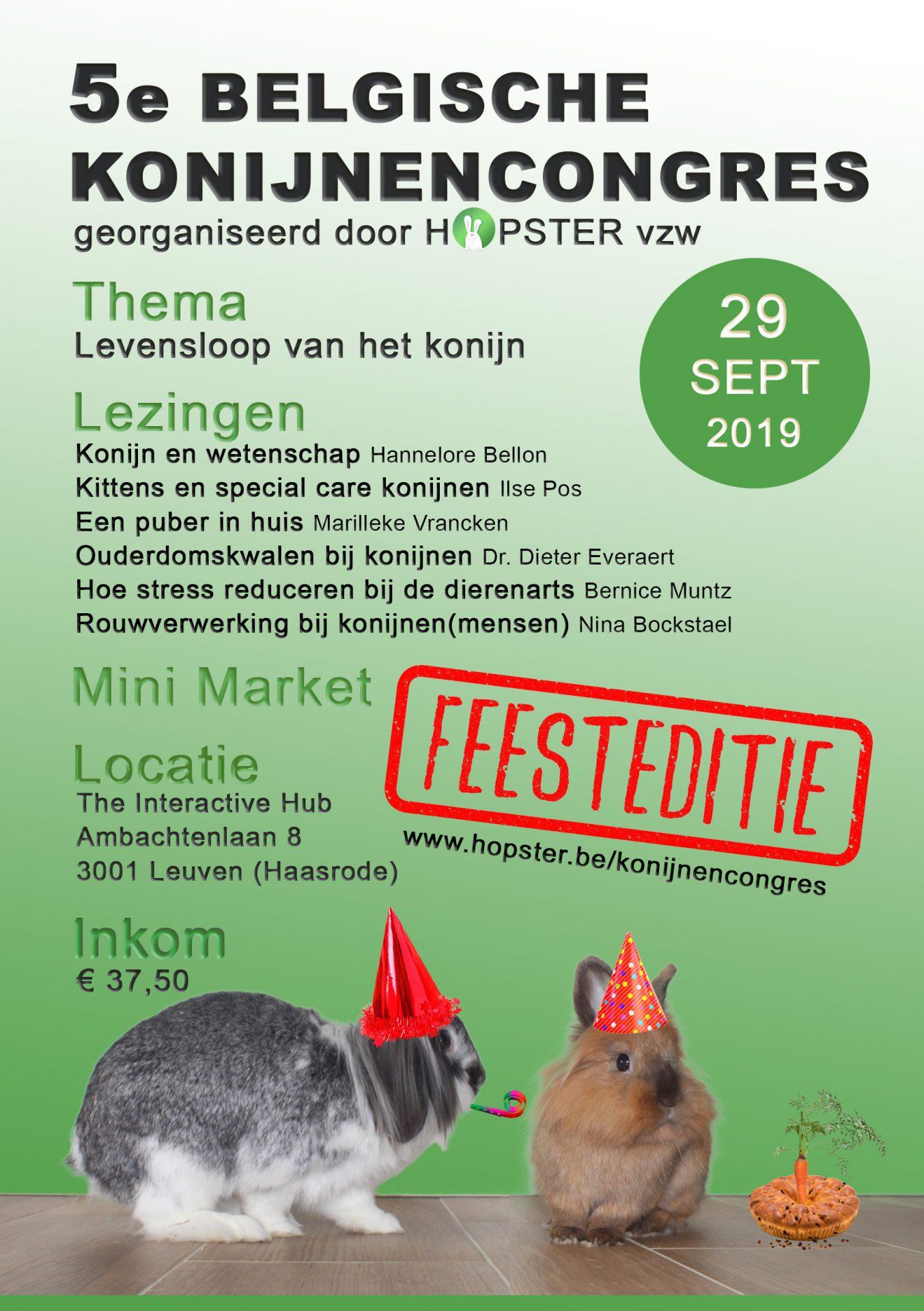 Belgisch Konijnencongres 2019 | Konijnenadviesbureau Hopster
