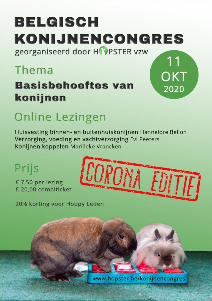 Konijnencongres 2020 | Konijnenadviesbureau Hopster
