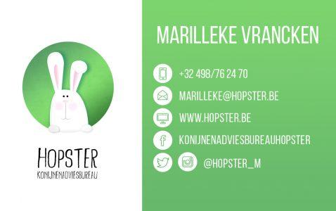 business card | Konijnenadviesbureau Hopster